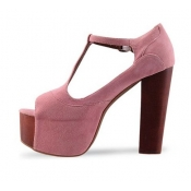 Fashion cheap pink high heels sandals