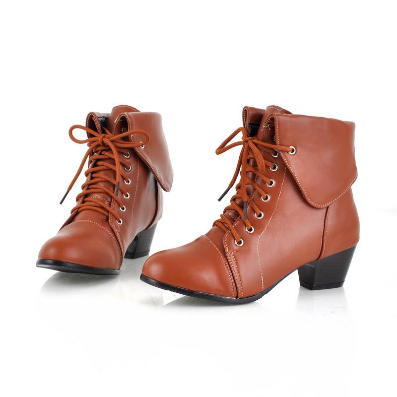 Fashion plus size shoes vintage stylish boots SZ121006103-1
