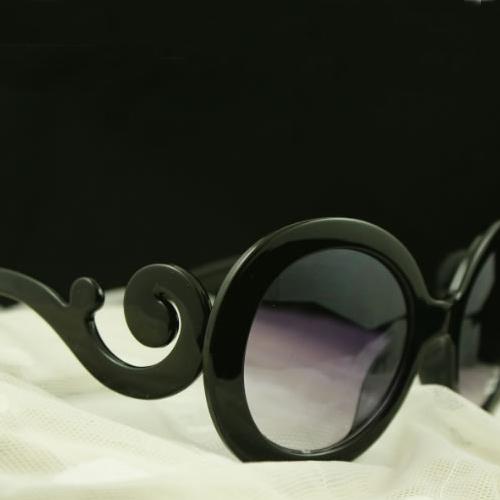 European Styles Weave Embellished Black PC Sunglasses