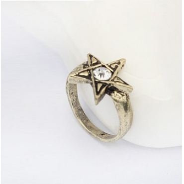 Moda Brown Metal Ring