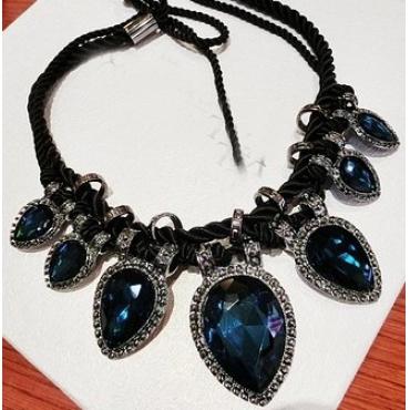 Fashion Blue Metal Necklace