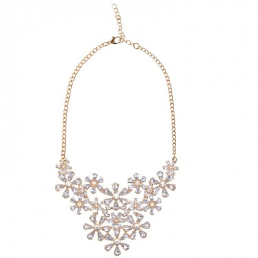 Fashion White Metal Necklace