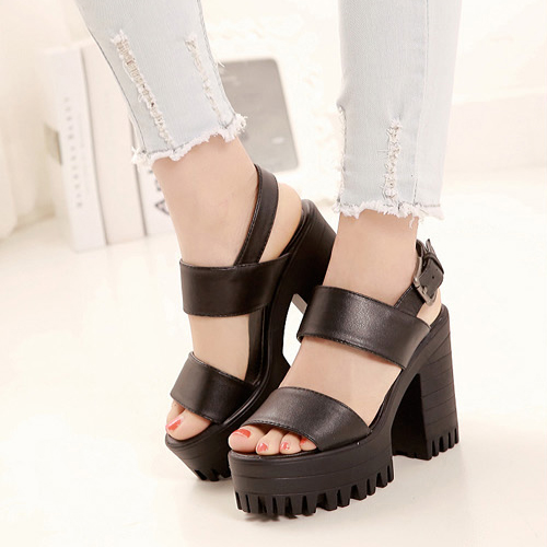 Chunky High Heel Sandals