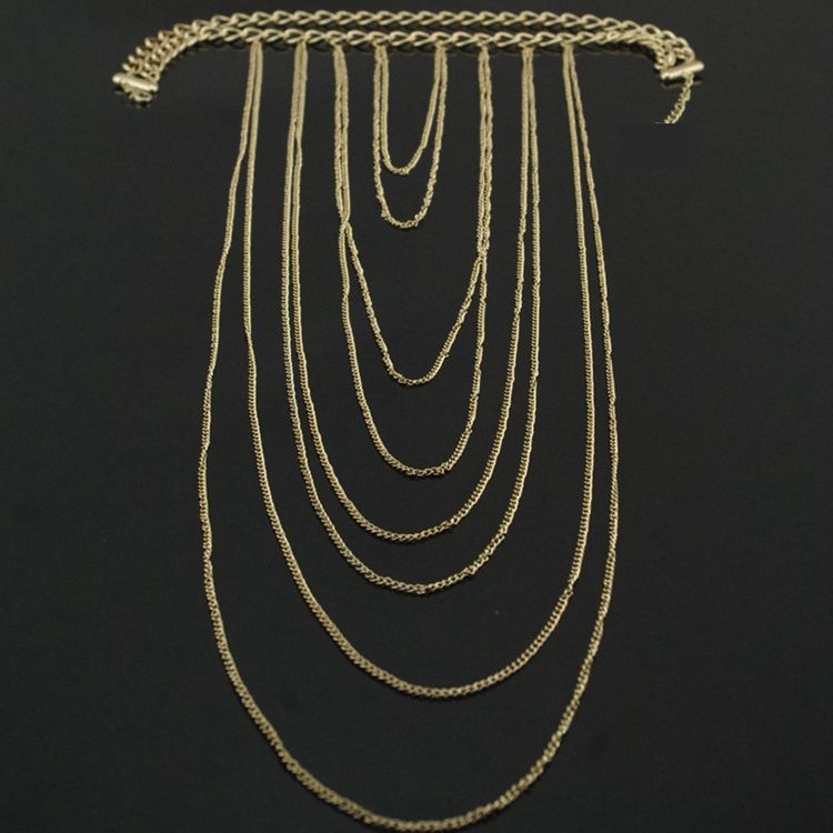 Fashion Tassel Gold Metal Body Chain