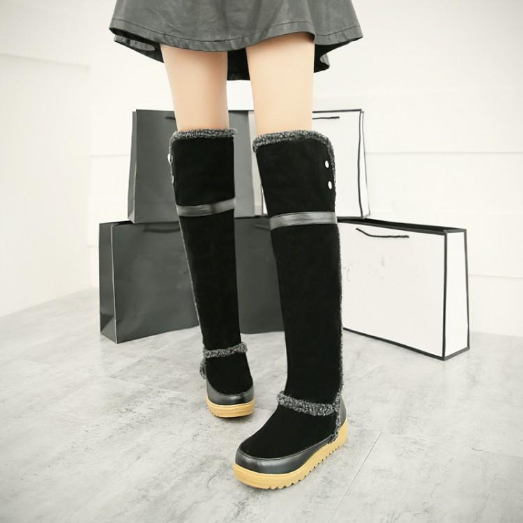 cheap winter fashion toe patchwork hook loop flat