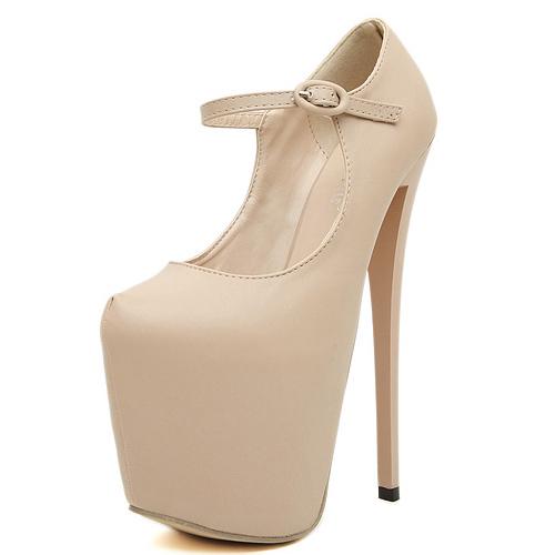 Cheap Fashion Pointed Closed Toe Platform Stiletto Super High Heel ...