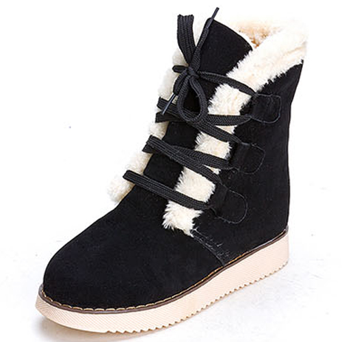 cheap winter toe lace up flat low heel black suede