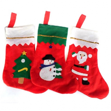 New Style Christmas Snowman Print One Sock