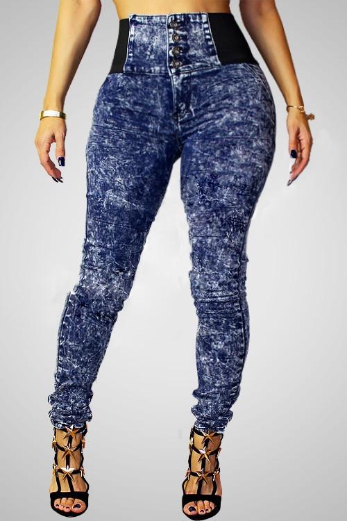 Women&39s Trendy High-Waisted Skinny Spliced Jeans For Women