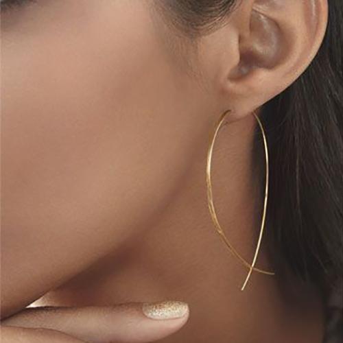 Fashion Fish Shaped Design Golden Metal Earring
