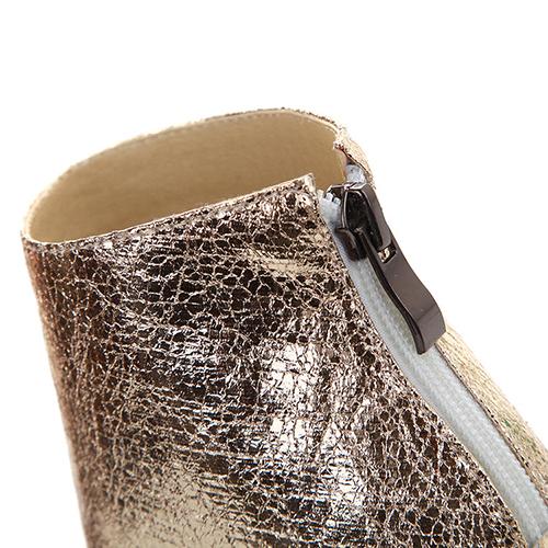 Moda del pío del dedo del pie redondo de color remiendo del bloque del estilete del alto talón del verde de la PU Bombas