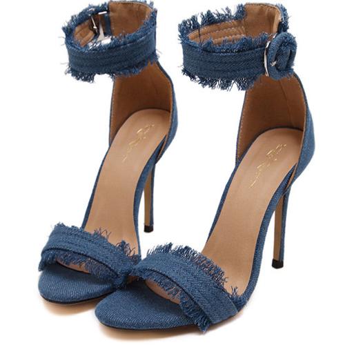 Модные Open Toe полым из Stiletto Супер Высокий каблук Light PU сандалии