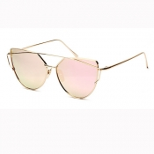 Retro Hollow-out Sakura Pink Acrylic Sunglasses