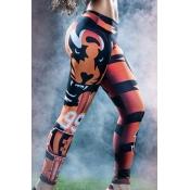 Trendy High Waist 3D Digital Printing Blending Leg