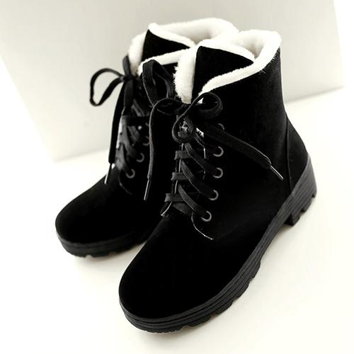 Стильный круглый носок на шнуровке клин пятки середины черные замшевые сапоги мартеновские