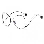 Fashion Iron Shot Decorative Black Metal Sunglasses