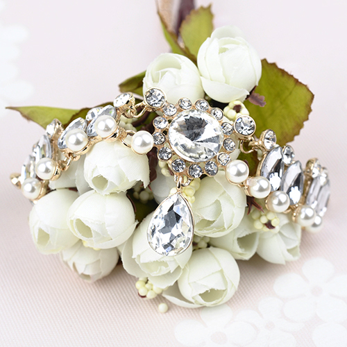 Fashion Rhinestone Decorative Gold Crystal Choker