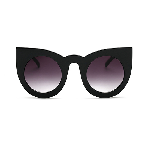 Euramerican Cat's Eye Frame Design Black PC Sunglasses