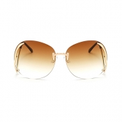 Stylish Rimless Tawny PC Sunglasses