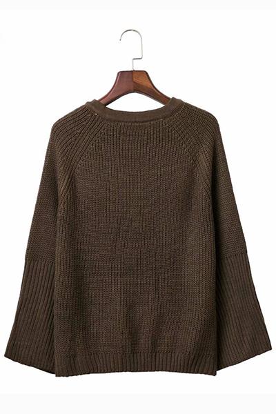 Cotton Long Sleeve Sweaters Sweater Vest