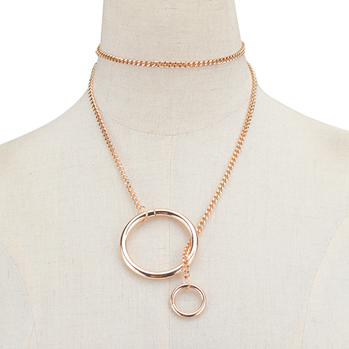 Fashion Copper Spiral Decorative Gold Metal Necklace
