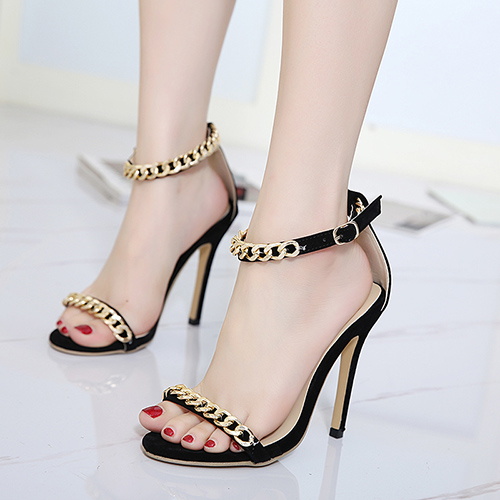 Suede Stiletto Super High Fashion Sandals