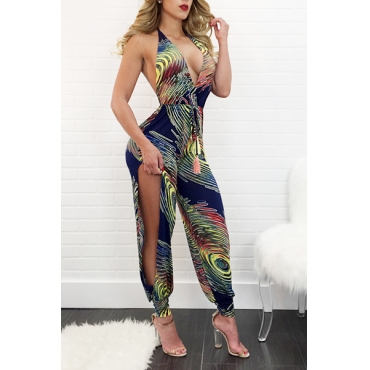 Sexy Deep V Neck Sleeveless Backless Qmilch One-piece Jumpsuits