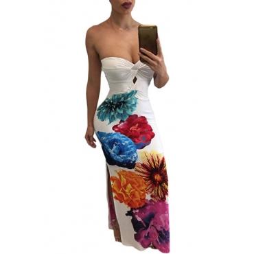 Polyester Sexy Bateau Neck Off The Shoulder Sleeveless Sheath Floor length Dresses