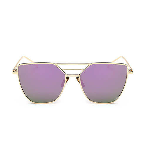 Euramerican Hollow-out Purple Metal Sunglasses