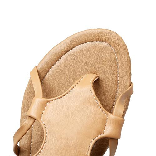 PU Flat Low Heel Fashion Cross Strap Sandals