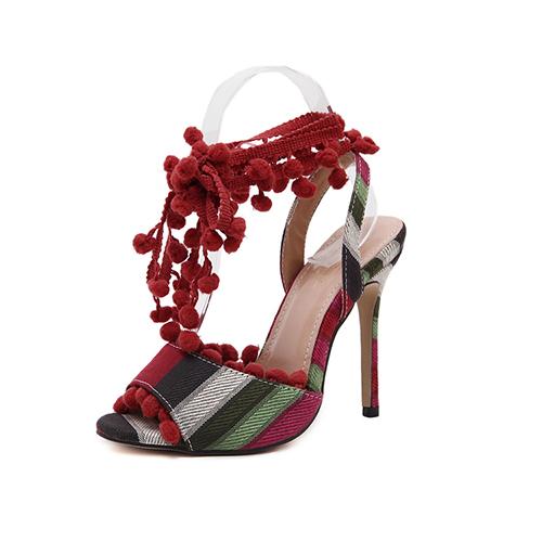 PU Stiletto Super High Fashion Ankle Strap Sandals