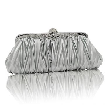 Модные серебряные сатиновые сумочки