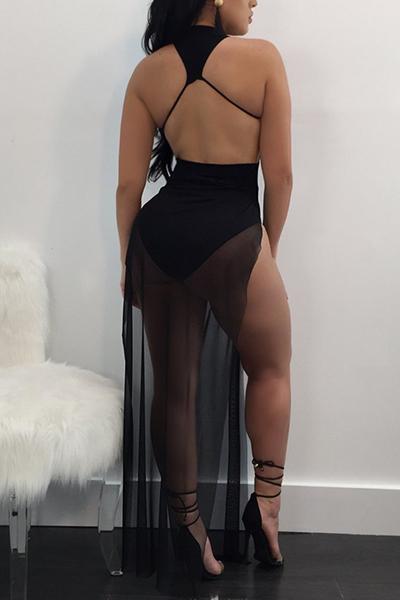 Vestito lungo dalla caviglia del raso di Twilled Tweed sexy retro