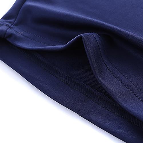 Freizeit Kurzarm-Patchwork Rot-Blau Baumwoll-Mischungen Zweiteilige Shorts Set