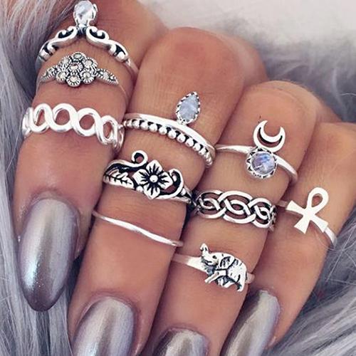 Fashion Silver Metal Ring