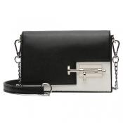 Fashion Black-white Patchwork PU Crossbody Bag