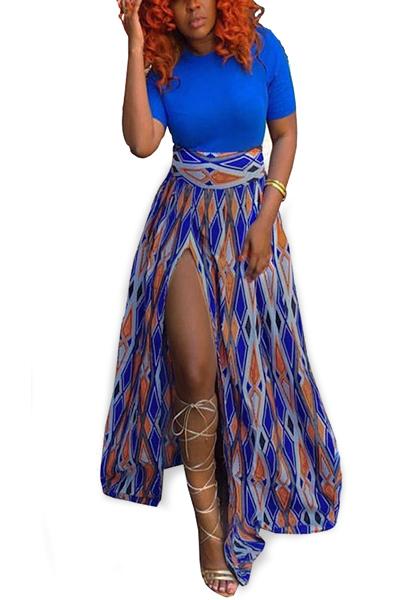 Модное волокно Мода O шеи с коротким рукавом линии Длина пола платья
