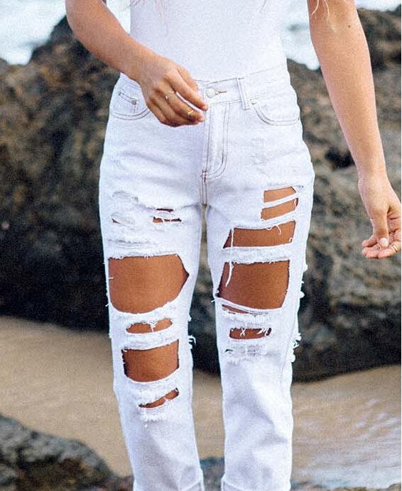 راحة الغابة قماش Jeans Rotos Sueltos Pleasantgroveumc Net